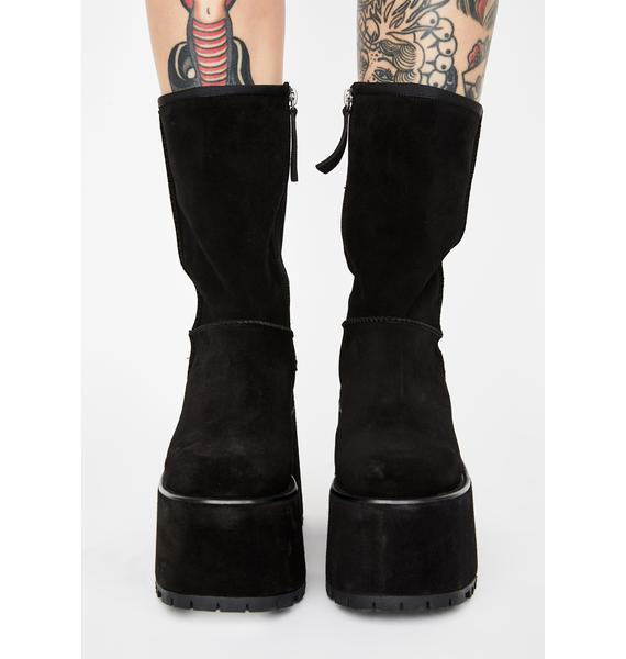 Current Mood Payback Time Leather Platform Boots