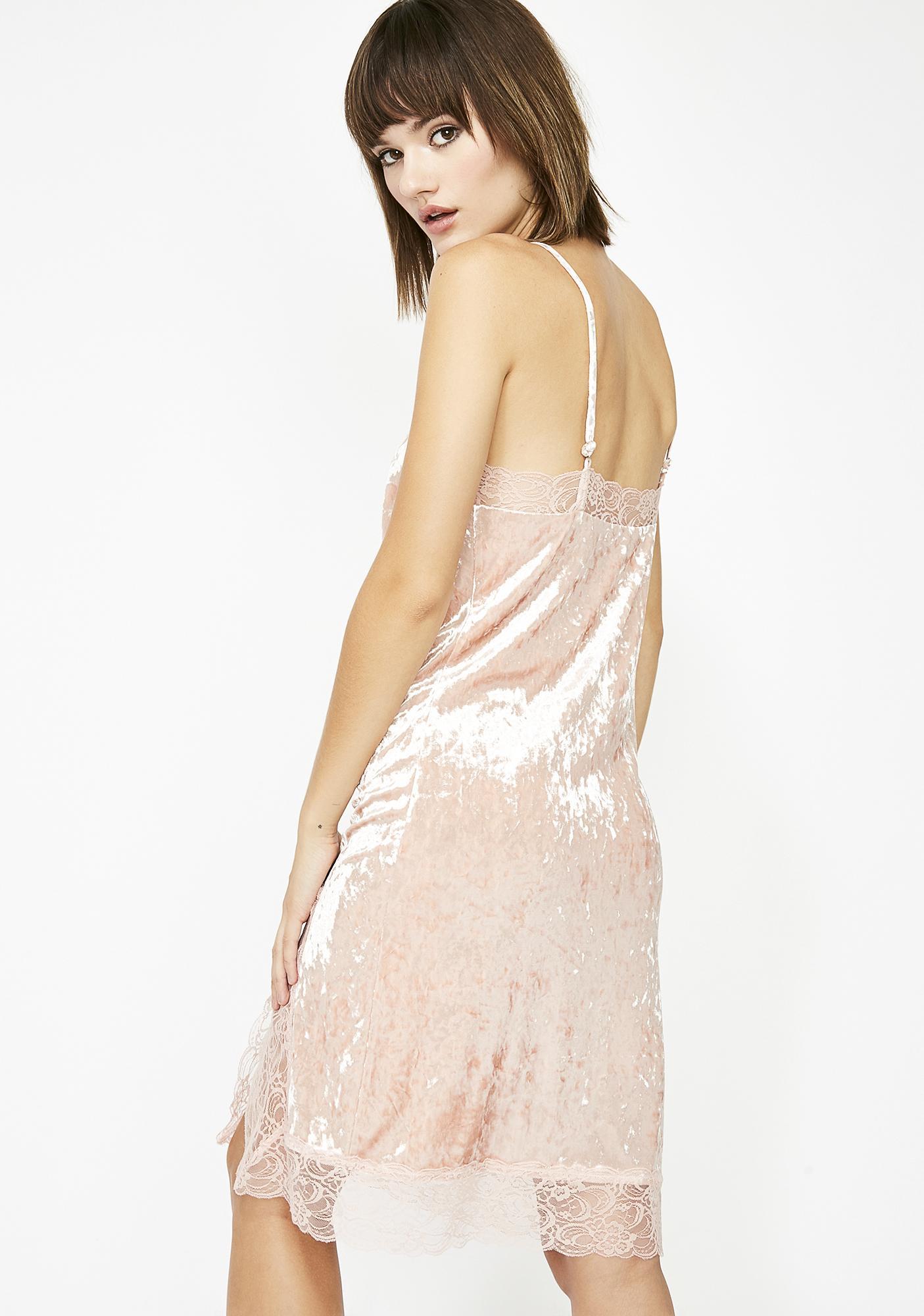 Crushin' Feelings Velvet Dress
