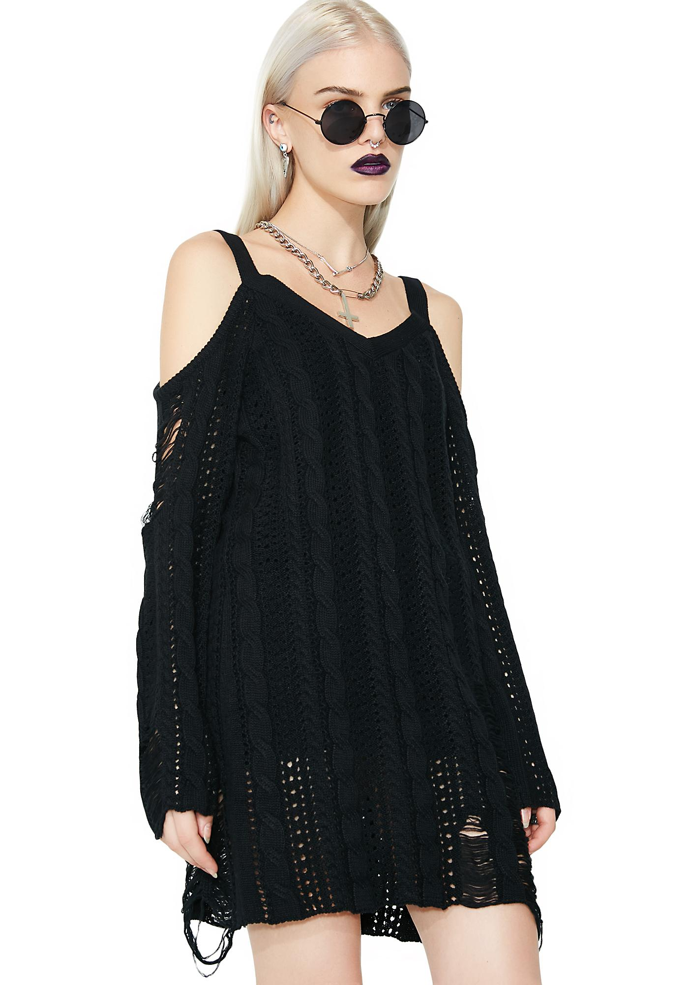 Killstar Bury Bridgette Knit Sweater