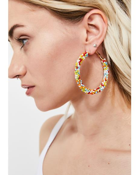 Funfetti Dream Beaded Hoops
