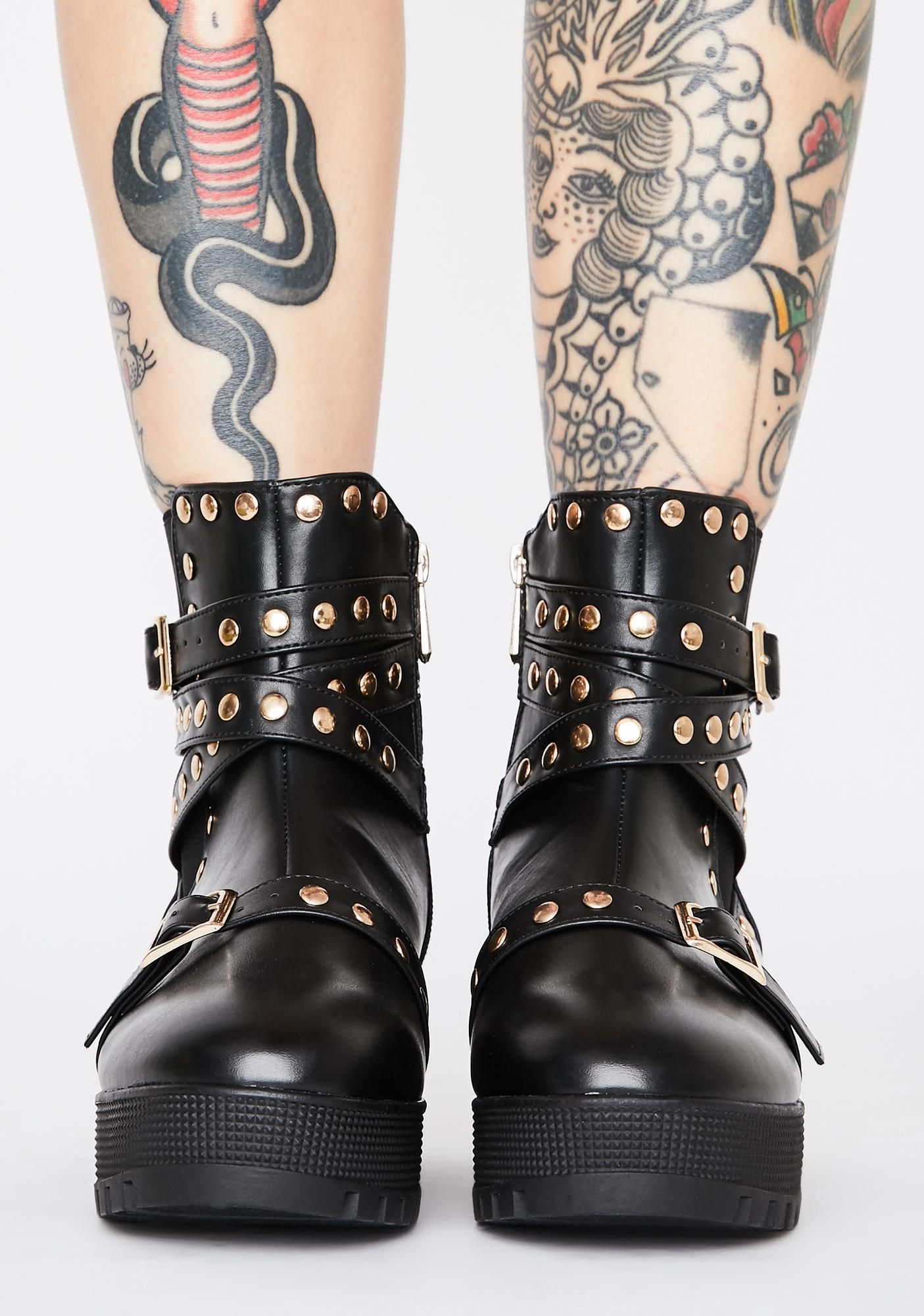 Welcome Insanity Studded Boots