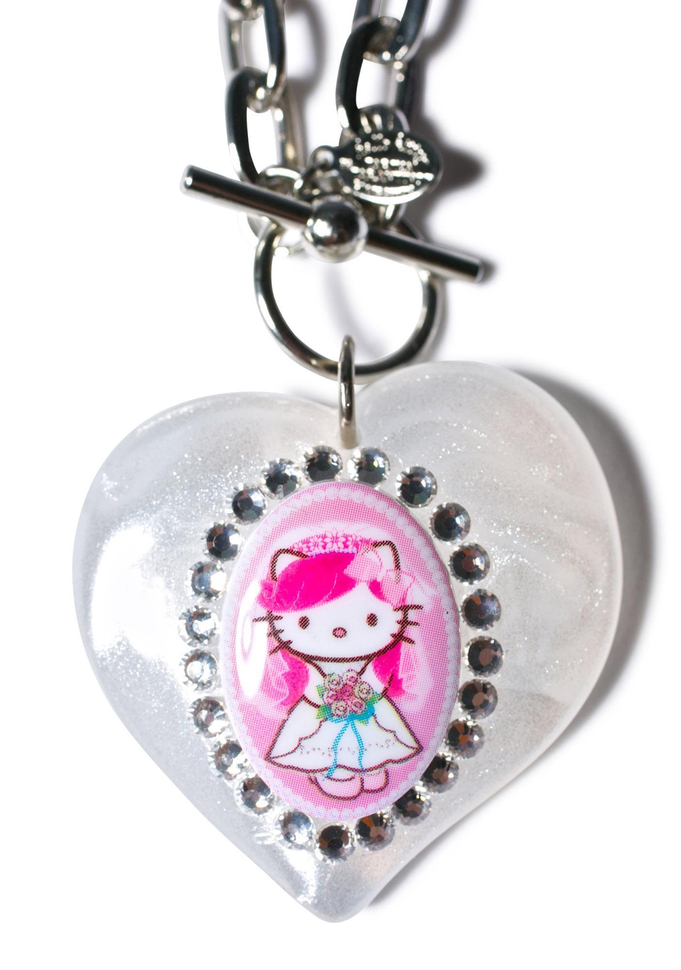 Tarina Tarantino Puff Heart Necklace