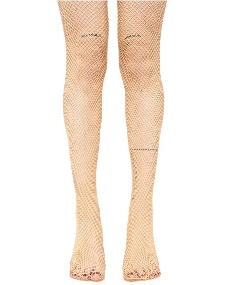 Fine Line Fishnet Tights