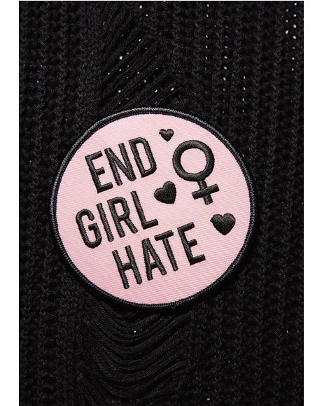 End Girl Hate Iron-On Patch