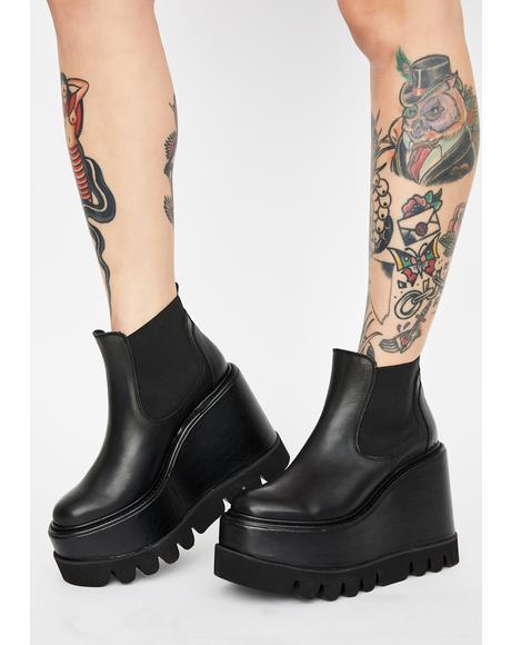 City Slicker Leather Platform Boots