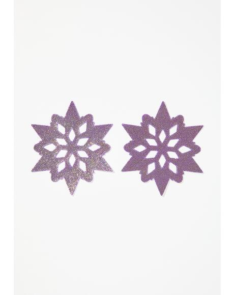 Purple Snowflake Spectrum Pasties