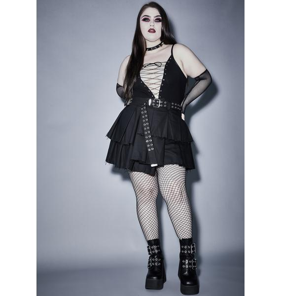 Widow Infernal Vicious Mischief Lace Up Bodysuit