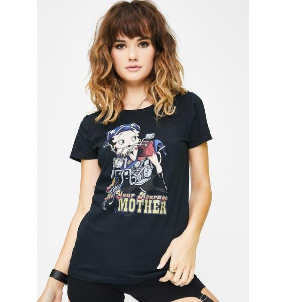 Trevco Betty Boop Not Your Average Mother Graphic Tee