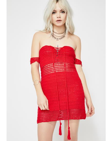 Glowin' Hour Crochet Dress