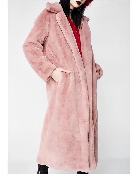 Furry Fun Long Coat