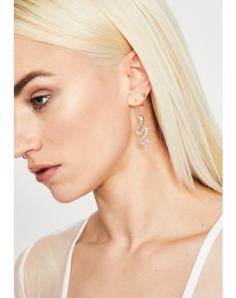 Blinding Bite Snake Earrings