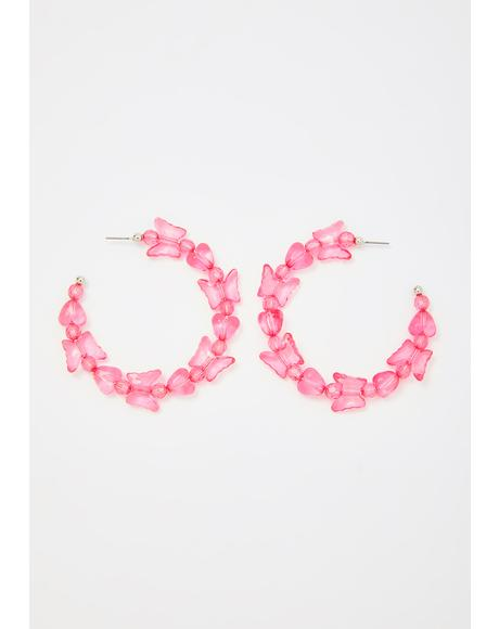 Flutter Frenzy Hoop Earrings