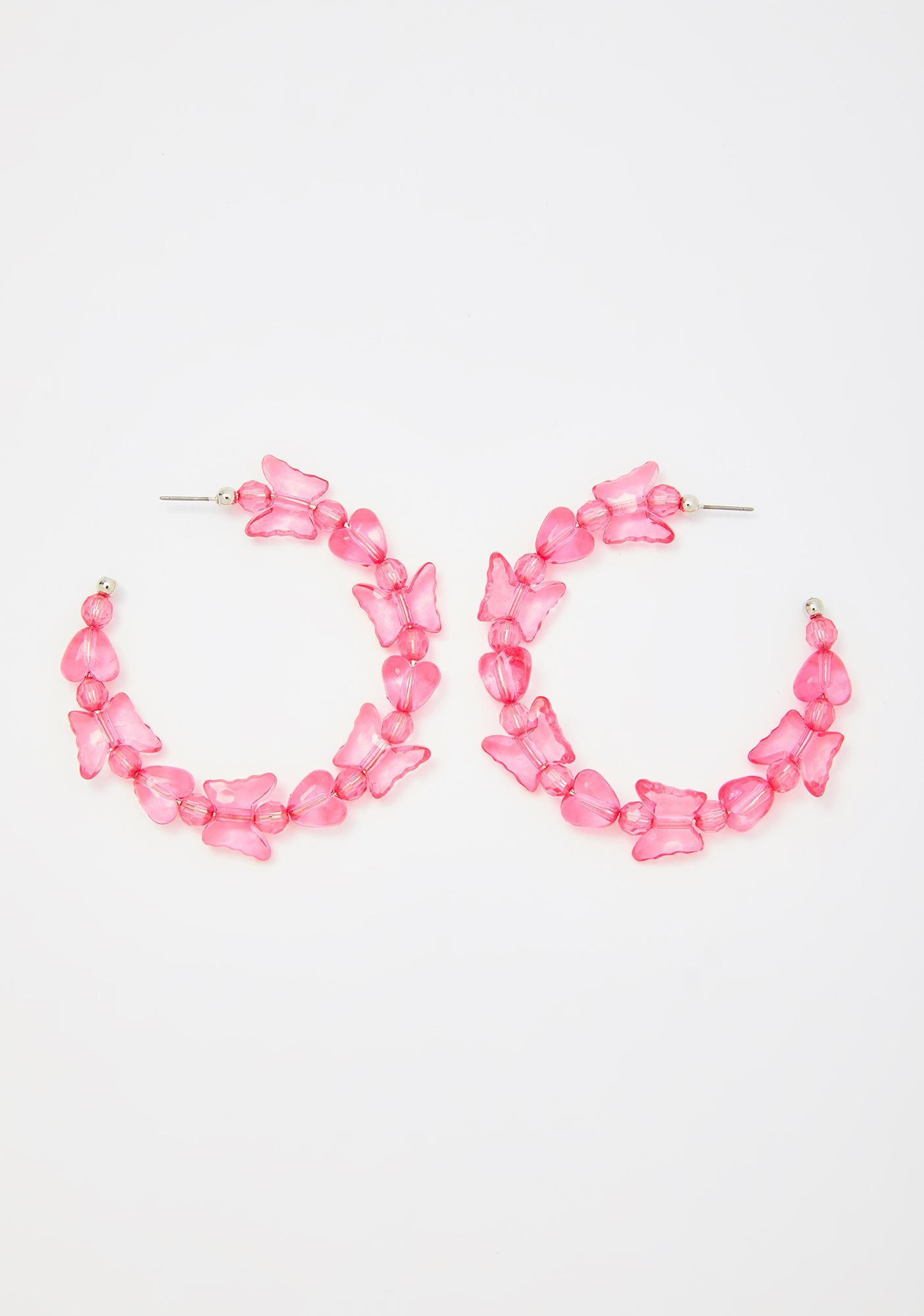 Flutter Frenzy Hoop Earrings
