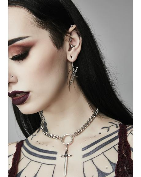 Dagger To The Heart Choker