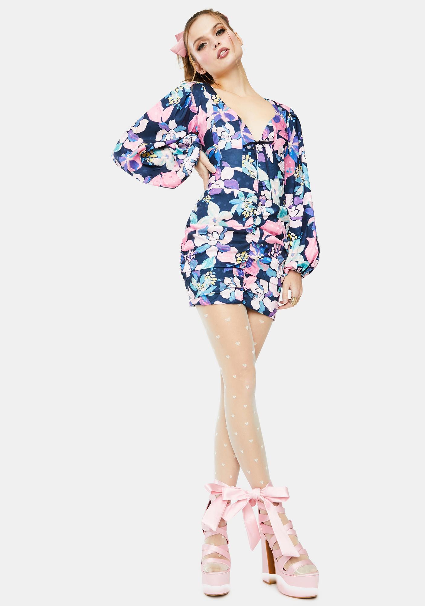 For Love & Lemons Wyatt Floral Mini Dress