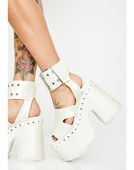 Pearl Soul Crushin' Platform Heels