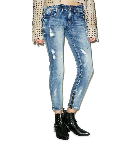One Teaspoon Blue Blonde Freebirds II Jeans