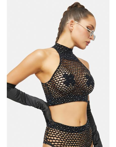 Shine With Me Fishnet Lingerie Set