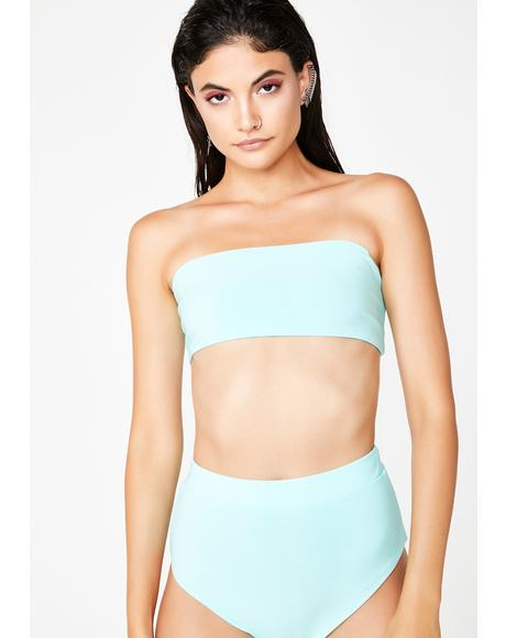 Cyan Summa Summa Time Bandeau Set