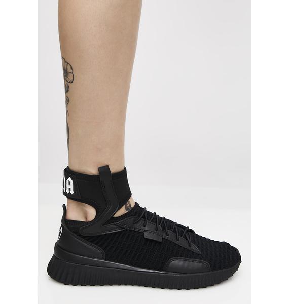 promo code 4eb88 458b1 ... PUMA Dark FENTY PUMA By Rihanna Trainer Mid Geo Sneakers ...