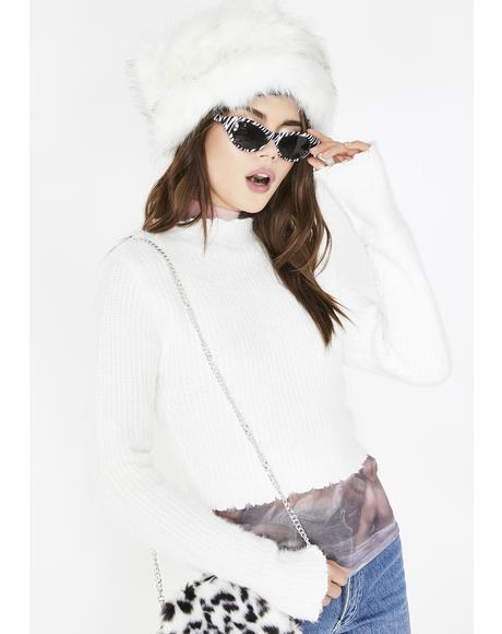 Snow Bunny Fuzzy Sweater