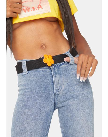 Gotta Get Groovy Daisy Buckle Belt