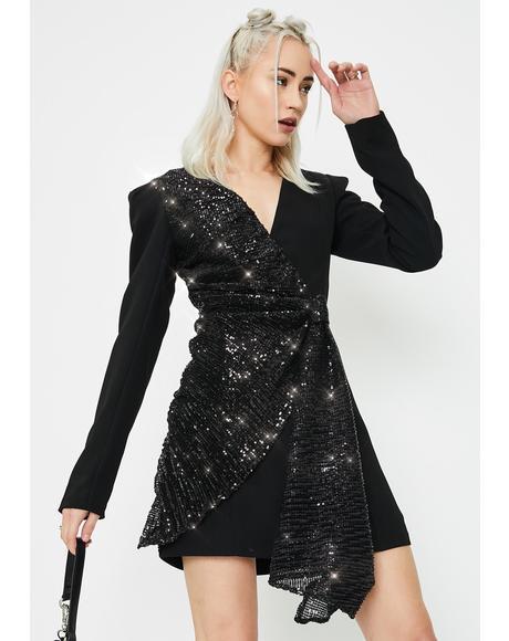 Sarine Sequin Blazer Dress