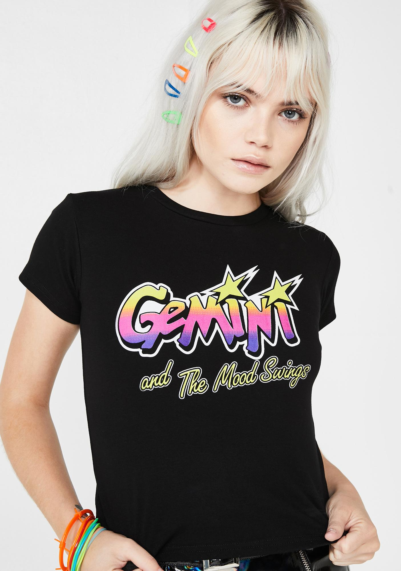 e596b550664 HOROSCOPEZ Gemini And The Mood Swings Graphic Tee | Dolls Kill