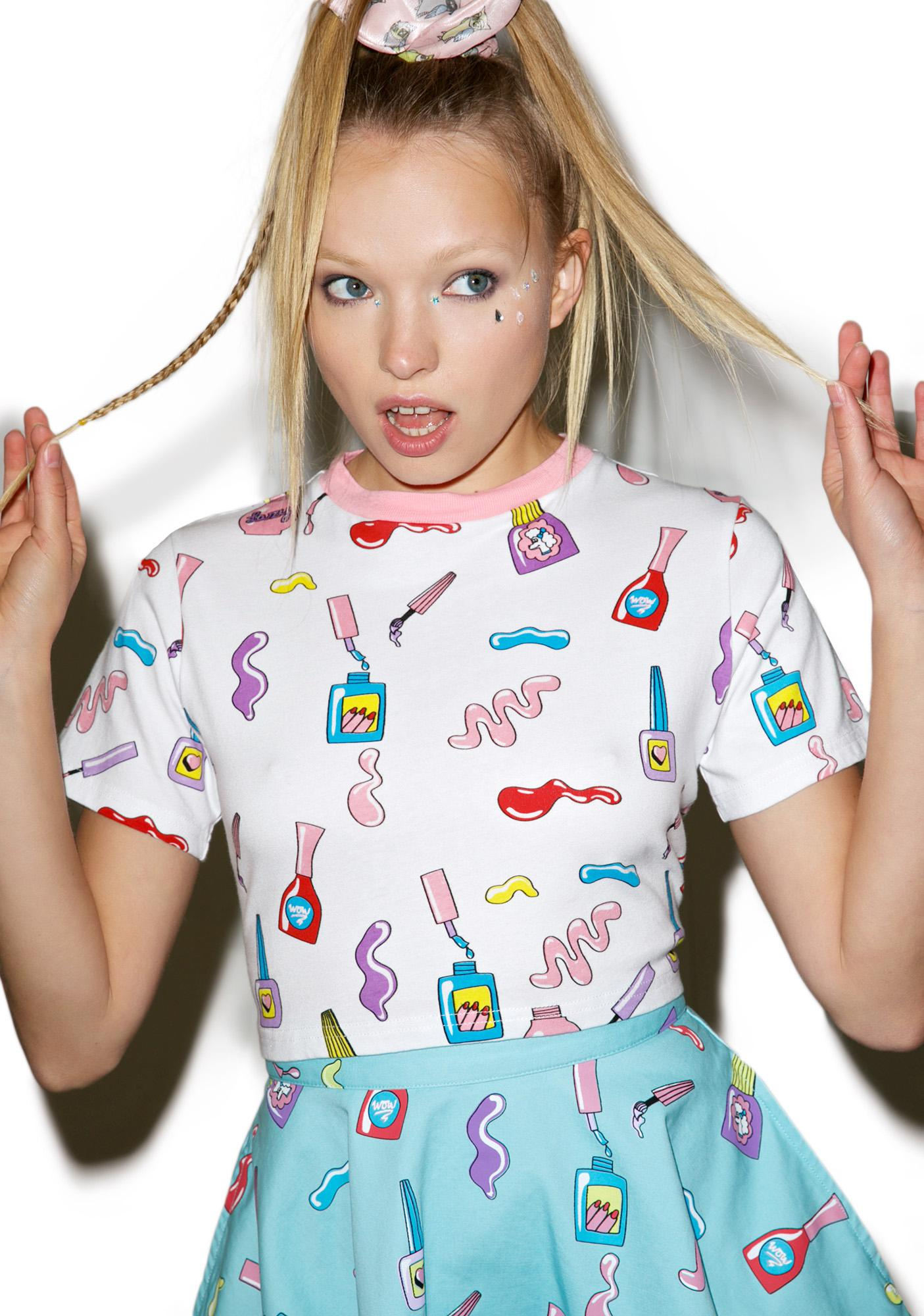 Lazy Oaf Nail Art T-Shirt