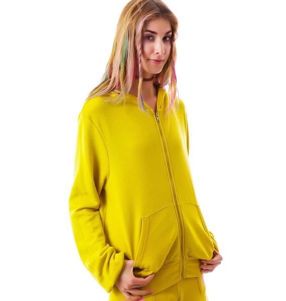 Wildfox Couture Flower Girl Mailbu Zip Up Hoodie