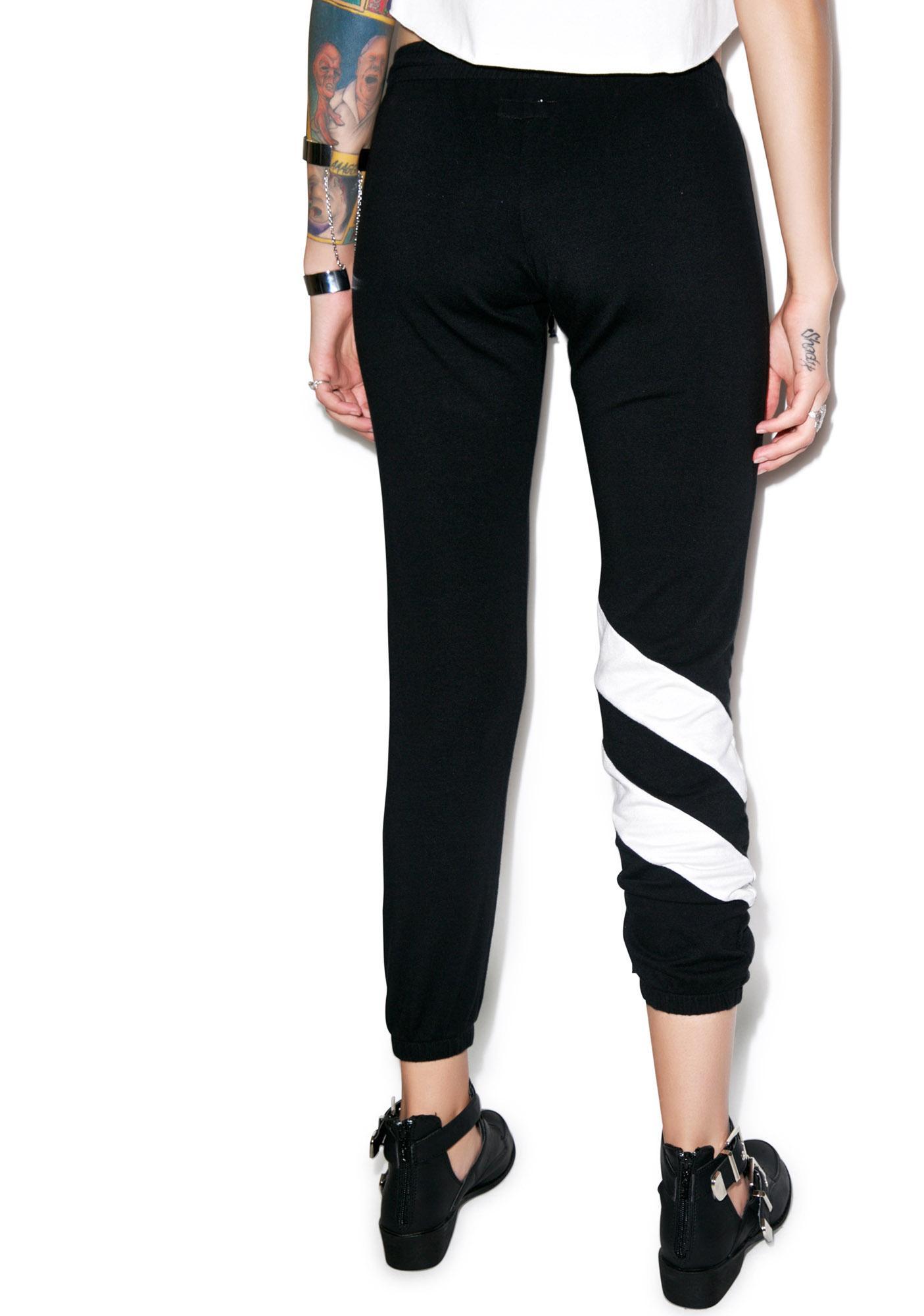 Lauren Moshi Frances Diagonal Stripe Sweatpant