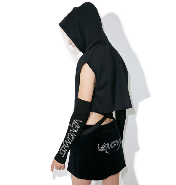 Venomiss NYC Double Trouble Cropped Hoodie
