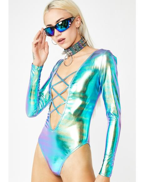 Pixie Charge Iridescent Bodysuit
