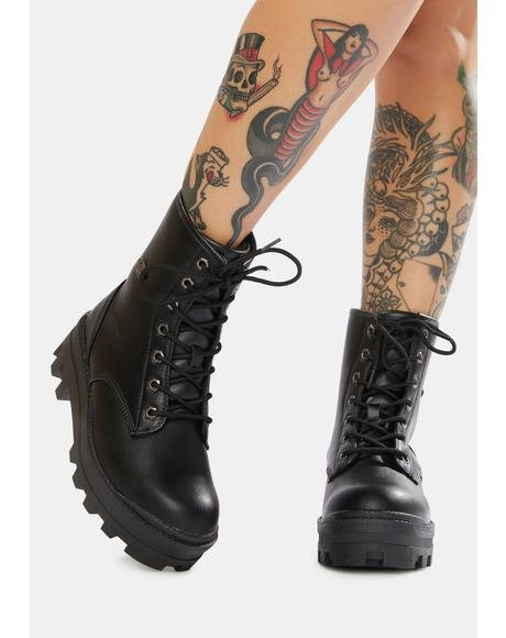 Black Dutch 6-Inch Combat Boots