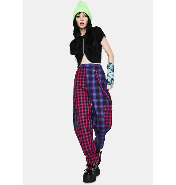The Ragged Priest Crux Plaid Cargo Pants