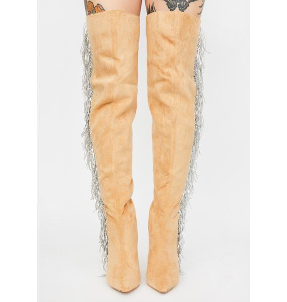 Nude Status Game Thigh High Boots