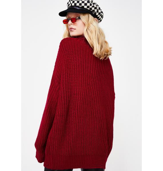 On The Flip Side Knit Sweater