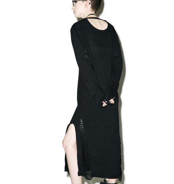 Nocturnal Destroyed Knit Dress