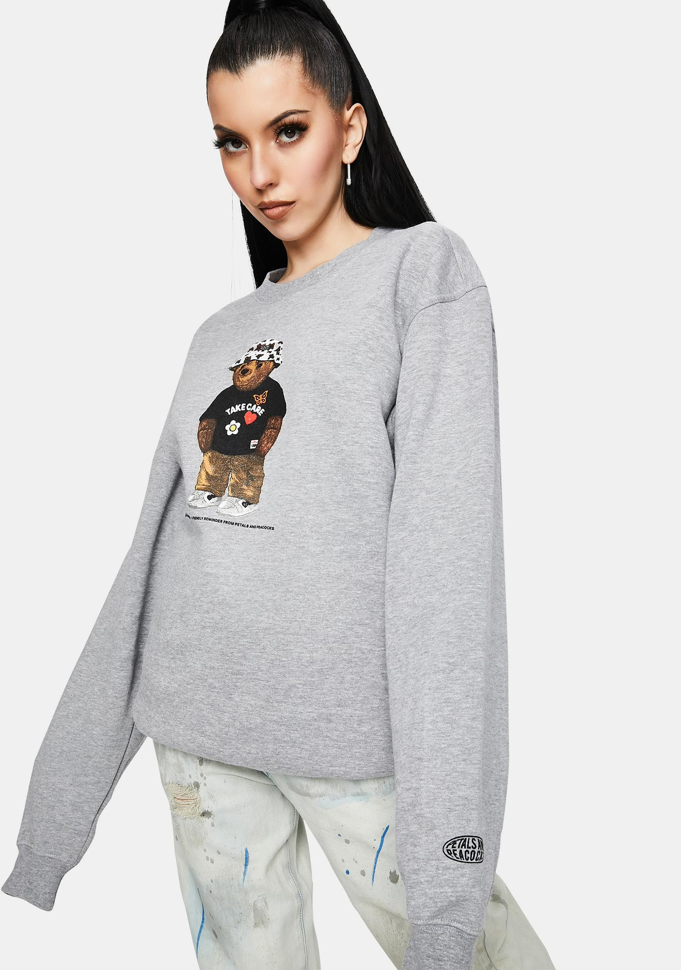 Petals and Peacocks Take Care Bear Graphic Sweatshirt