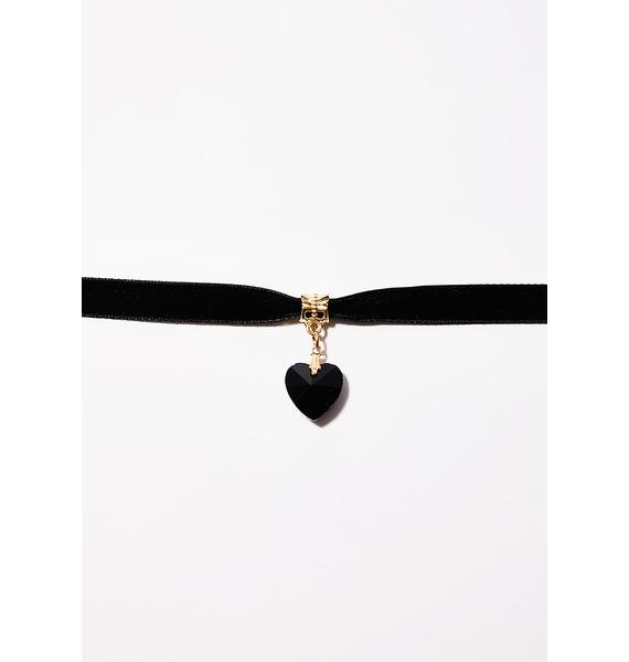 Love Is Dead Heart Choker