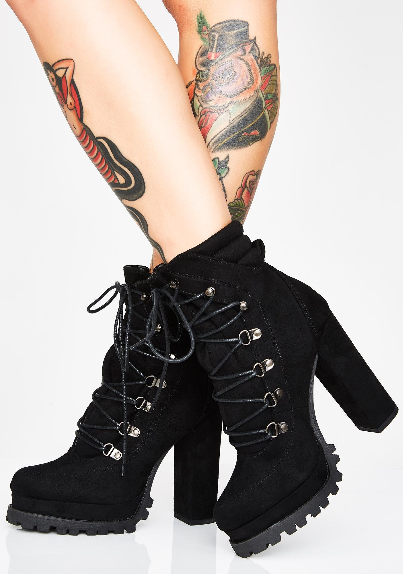 Dark Chicago Winds Ankle Boots