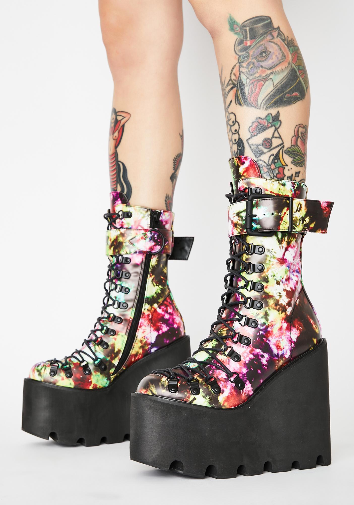 Club Exx Acid Sunrise Traitor Boots