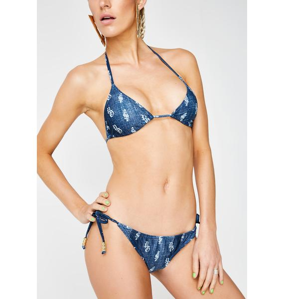 Poster Grl Just Own It Denim Bikini Set
