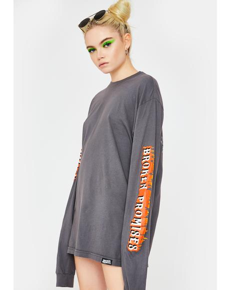 Coffin Head Graphic Long Sleeve Tee