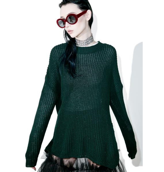 Glamorous Collaboration High-Lo Split Sweater
