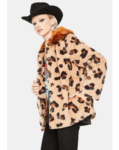 Full On Catastrophe Faux Fur Coat