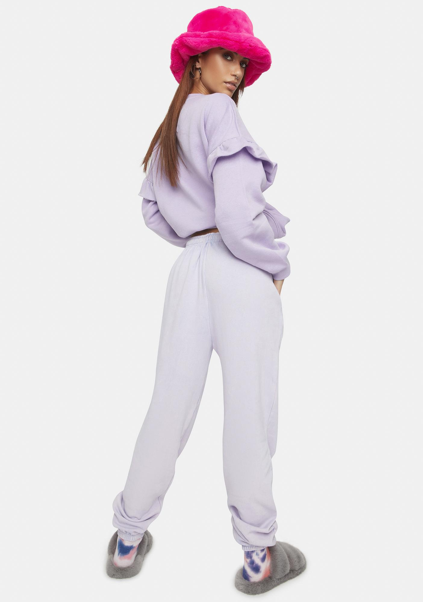 Daisy Street Lilac Megan Washed Joggers
