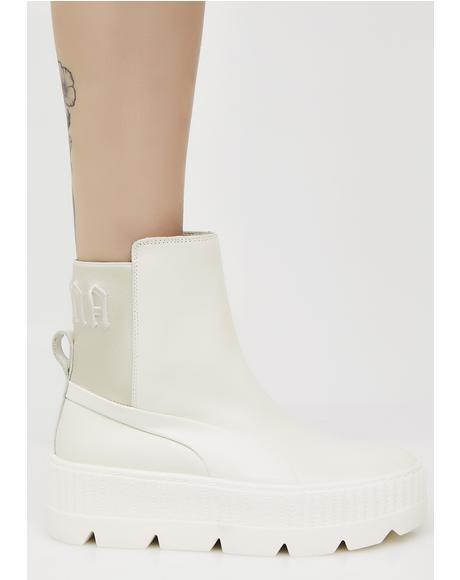 Vanilla FENTY PUMA By Rihanna Chelsea Sneaker Boots