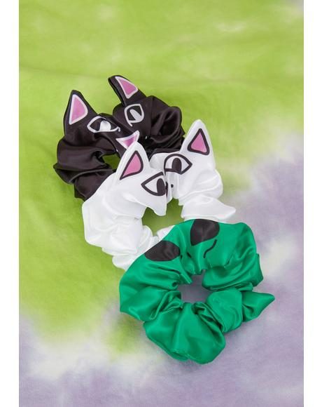 Whole Gang Hair Scrunchie Set