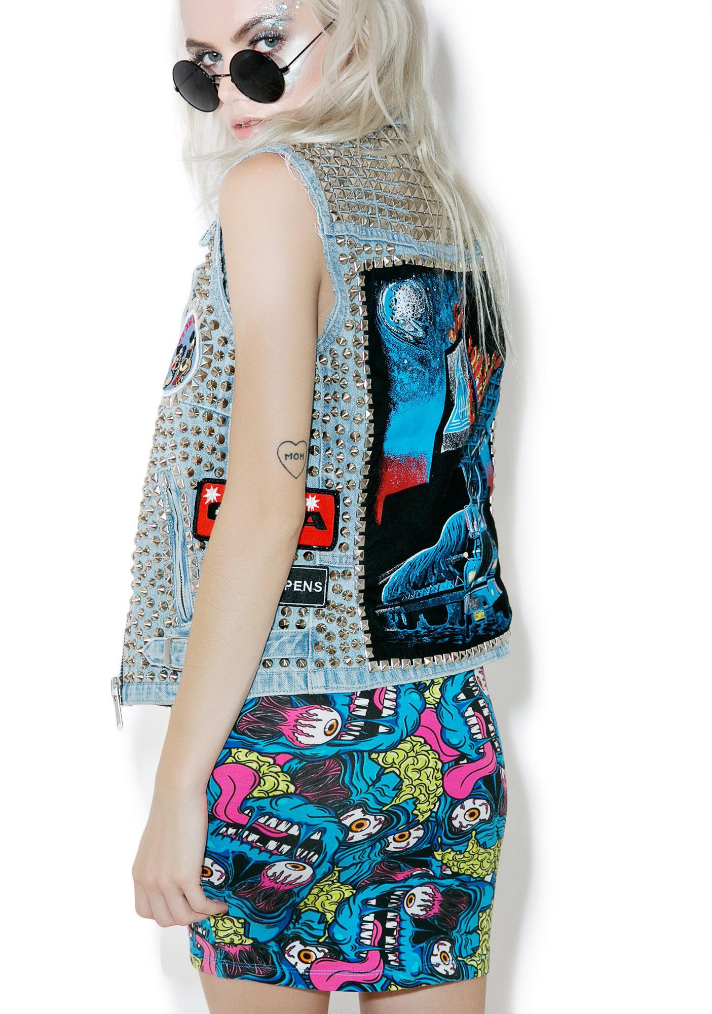 Iron Fist Eyeballin' Mini Skirt